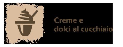 Logo categoria creme e dolci al cucchiaio. Coppa di gelato stilizzato