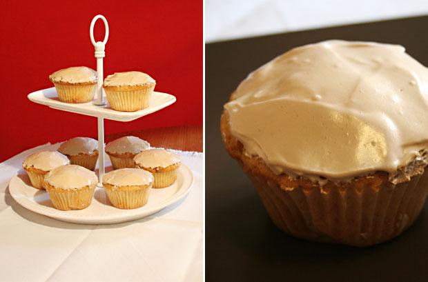 foto dei muffin. E' visibile anche un primo piano del muffin