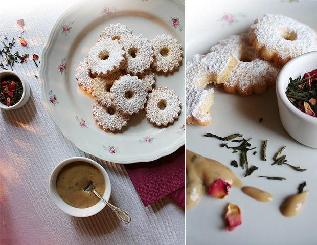 Foto dei canestrelli e della crema al tè