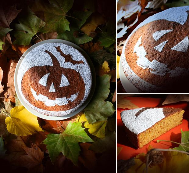 Foto della torta di zucca Halloween