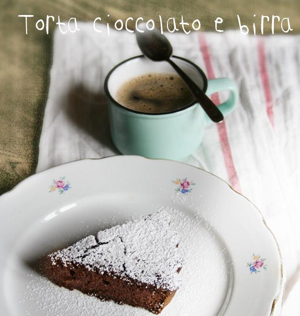 Foto della torta cioccolato e birra