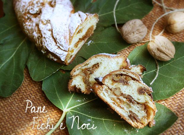 Foto del dolce pane, fichi e noci