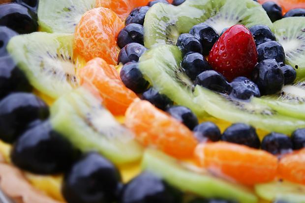Dettaglio della crostata alla frutta