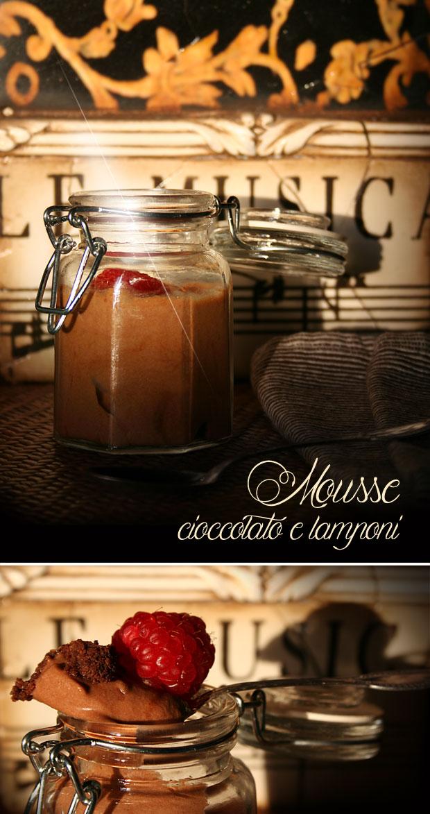 Mousse cioccolato e lamponi
