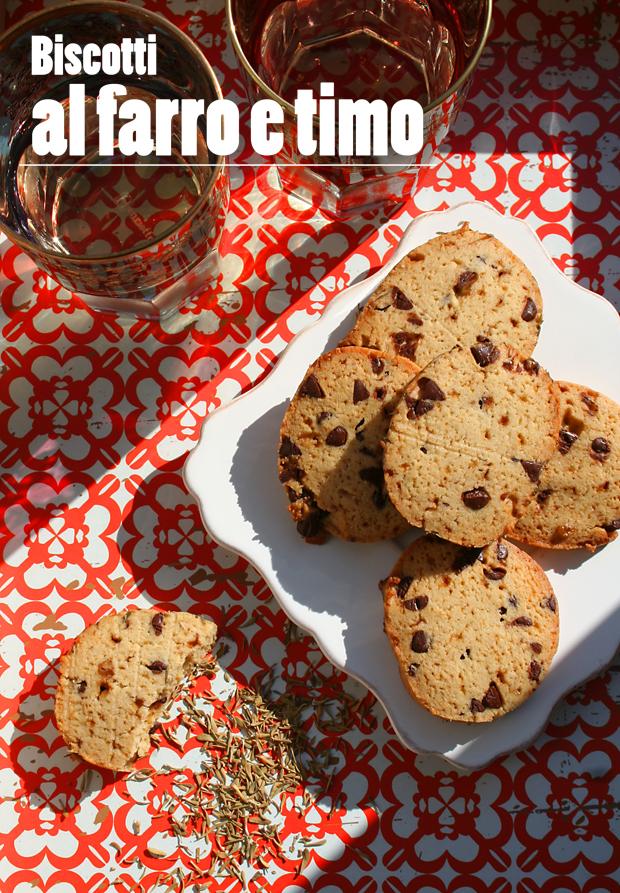 Biscotti al farro e timo