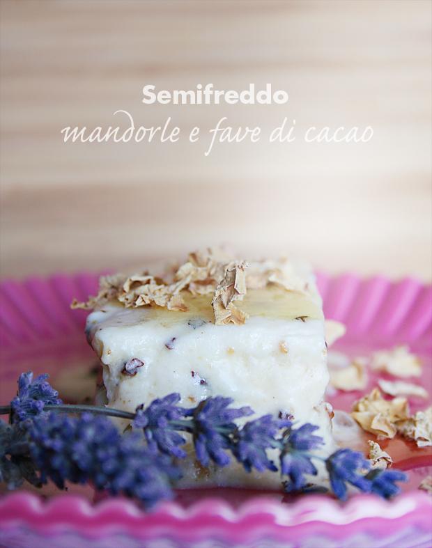 Semifreddo mandorle e fave di cacao