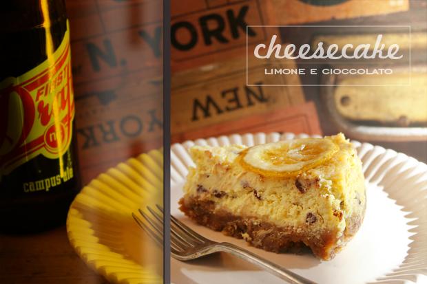 Cheesecake limone e cioccolato