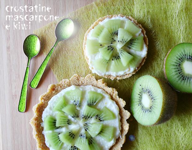 Crostatine mascarpone e kiwi