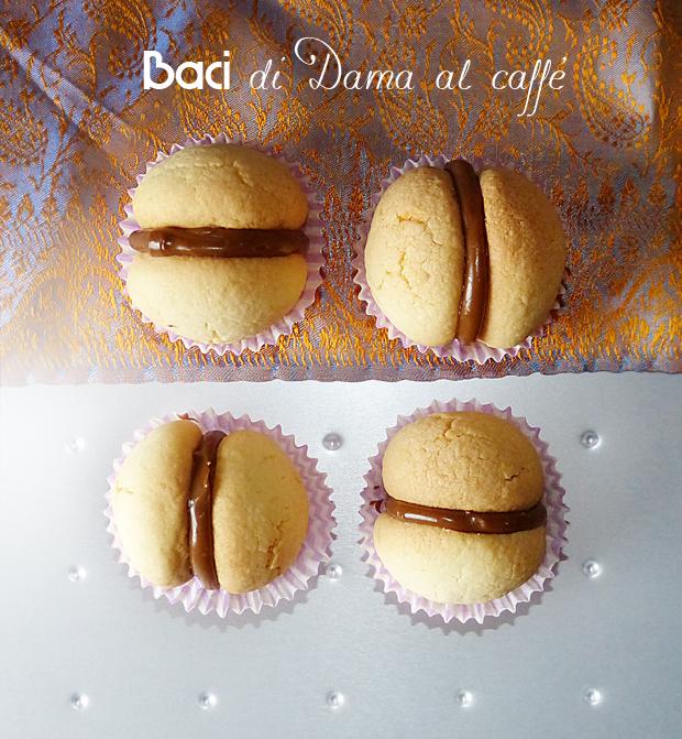 Baci di dama al caffè e cioccolata bianca