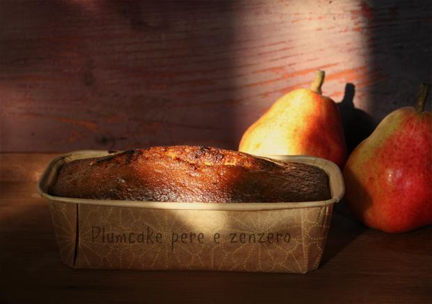 Foto del plumcake pere e zenzero