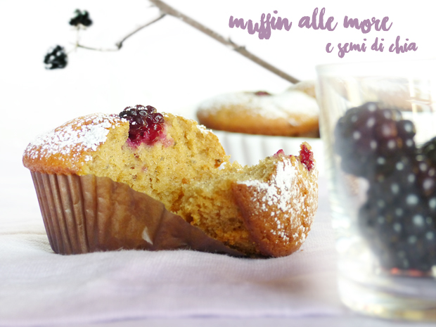 Muffin alle more e semi di chia